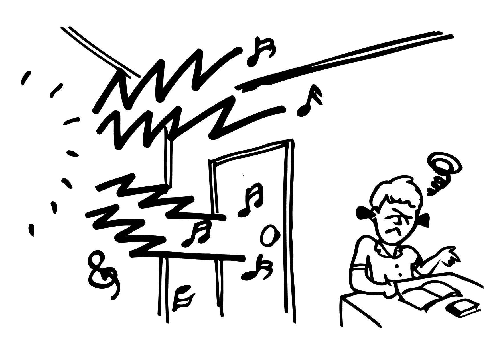 dibujo para colorear ruido - estudiar