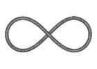 Dibujo para colorear símbolo - infinito
