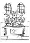 Dibujo para colorear Sacerdote