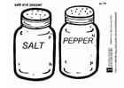 Dibujo para colorear Sal - pimienta