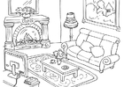 Dibujo para colorear salón
