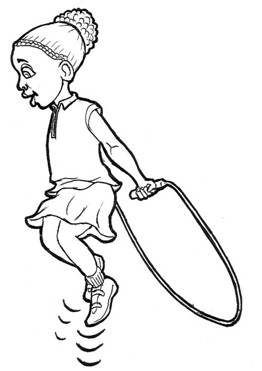 Dibujo Para Colorear Saltando A La Comba Img 9222