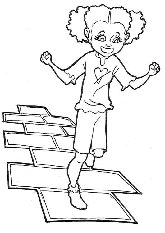Dibujo Para Colorear Saltando A La Pata Coja Img 9227 Images