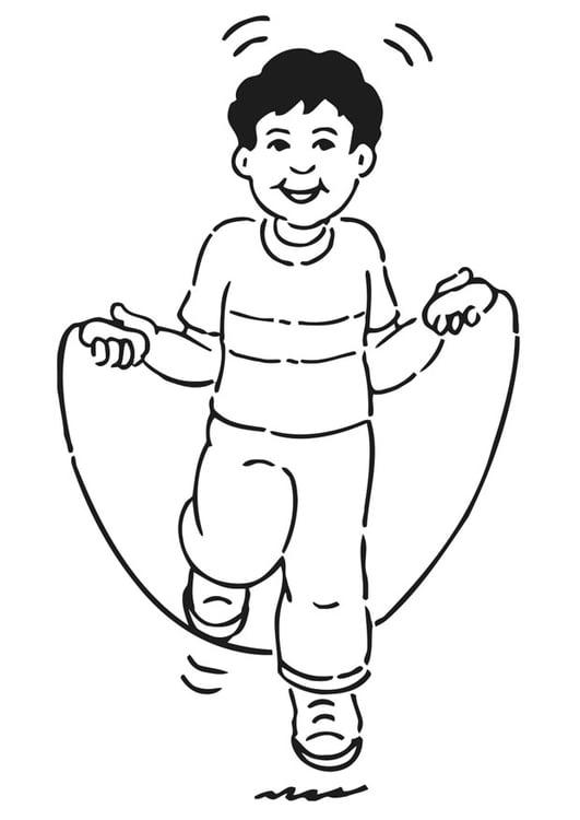 Dibujo Para Colorear Saltar A La Comba Img 20932