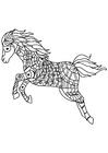 Dibujo para colorear saltos de caballos