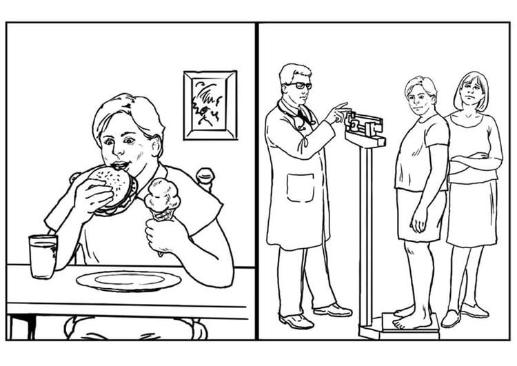 Dibujo Para Colorear Salud Alimentación Img 7655