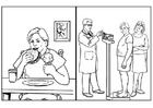 Dibujo para colorear Salud, alimentación