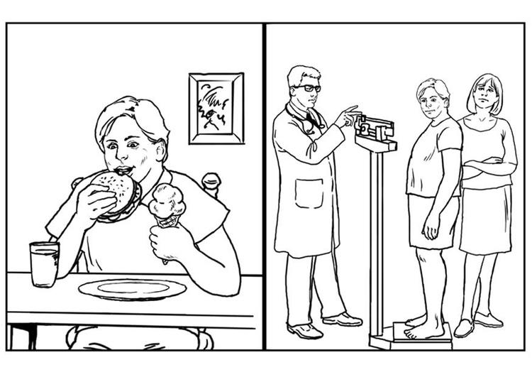 Dibujo Para Colorear Salud Almentación Img 7638