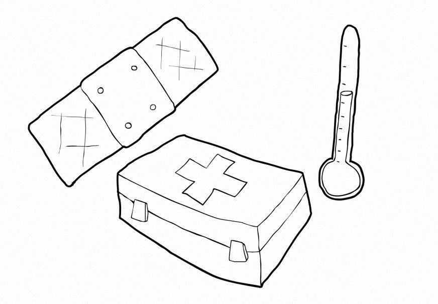 Dibujo Para Colorear Salud Asistencia Dibujos Para