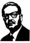 Dibujo para colorear Salvador Allende