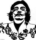Dibujo para colorear Salvador Dalí