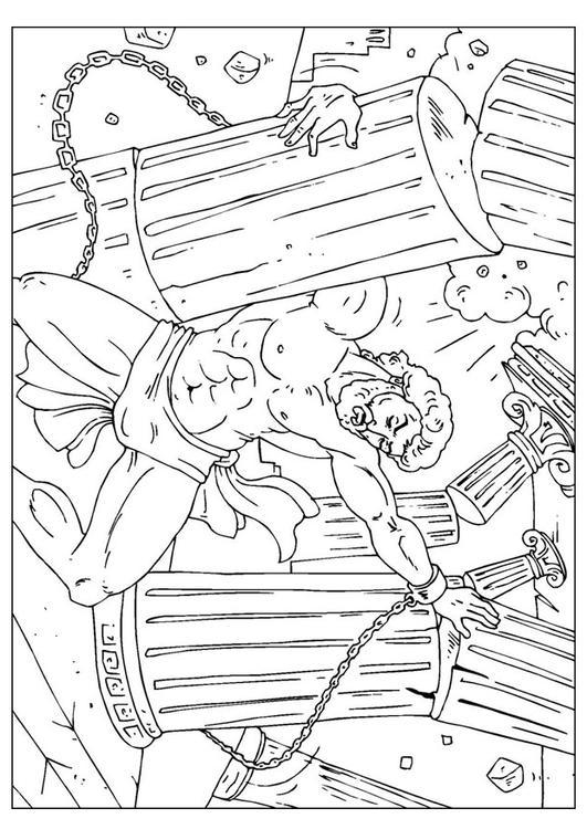 Dibujo para colorear Samsón - Img 25962