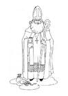 Dibujo para colorear San Nicolás