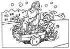Dibujo para colorear San y Piet