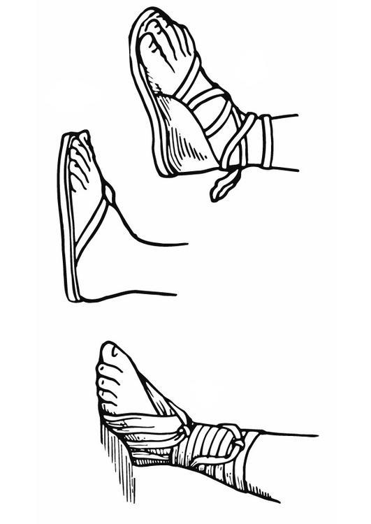 Dibujo Para Colorear Sandalias Img 13294