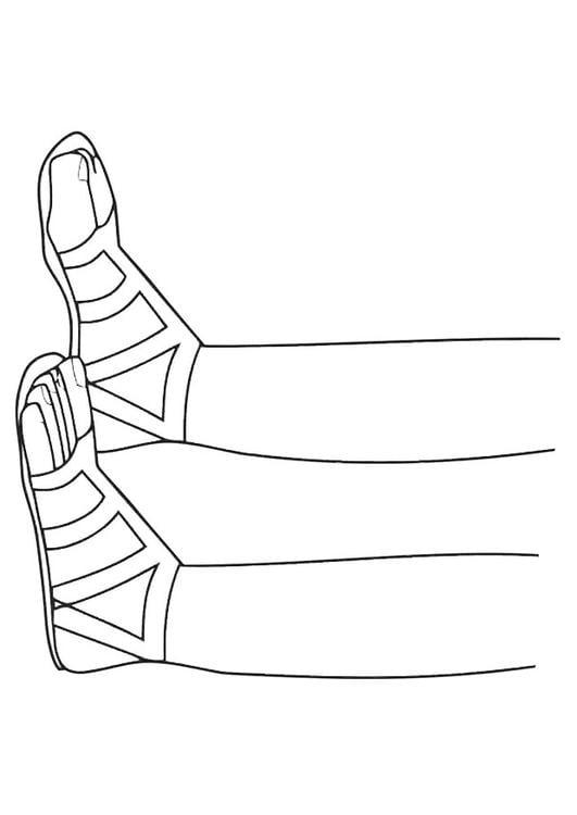 Dibujo Para Colorear Sandalias Img 19439