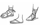Dibujo para colorear Sandalias