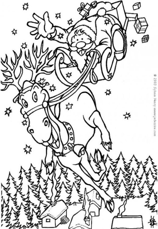 Dibujo Para Colorear Santa Claus Img 6447