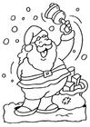Dibujo para colorear Santa claus