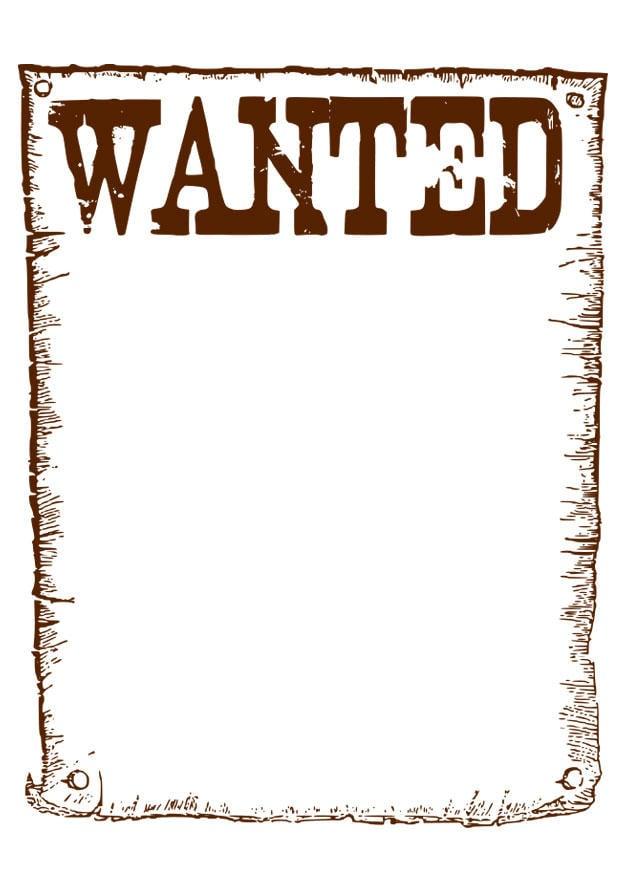 Dibujo Para Colorear Se Busca Wanted Img 28113