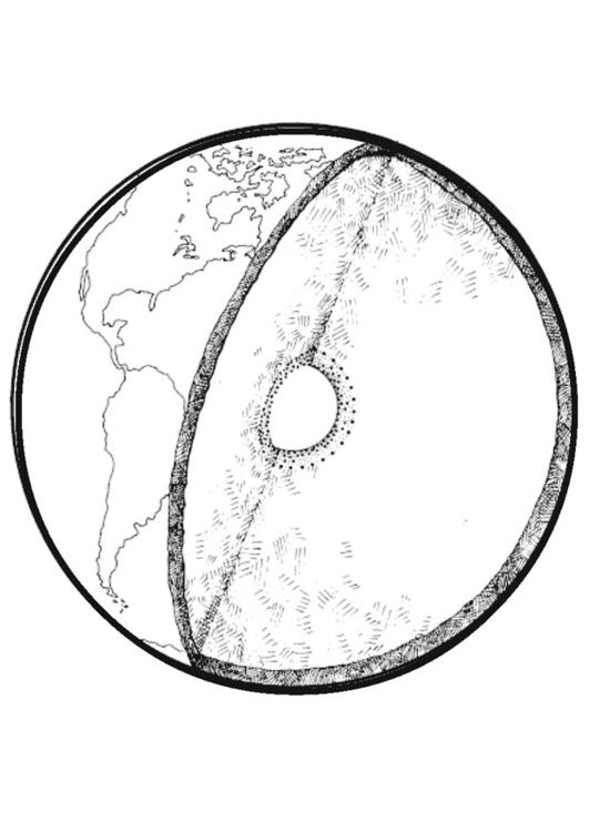 Dibujo para colorear Sección de la tierra - Img 14339
