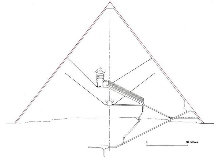 Dibujo para colorear Sección de pirámide de Keops, Gizeh - Img 7567