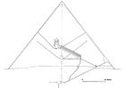 Dibujo para colorear Sección de pirámide de Keops, Gizeh