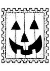Dibujo para colorear sello de halloween
