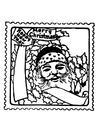 Dibujo para colorear sello de Navidad