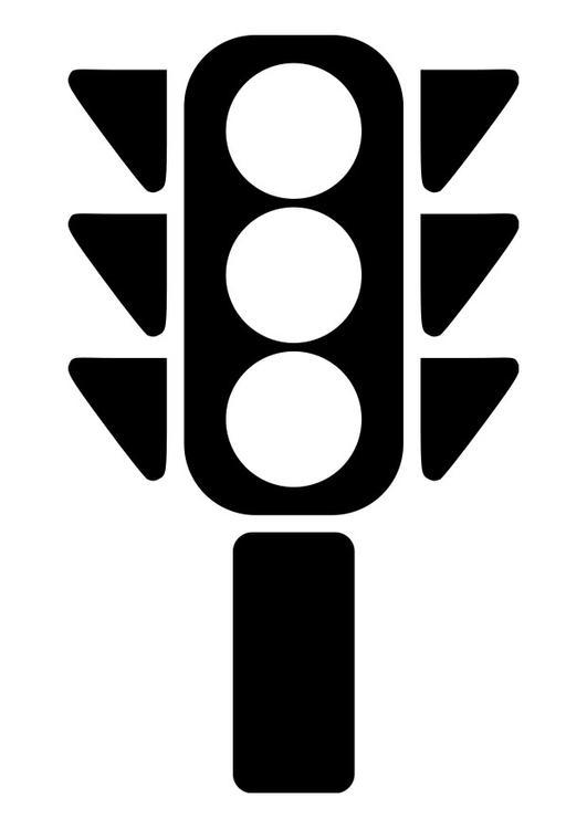 Dibujo para colorear semáforo - Img 19268