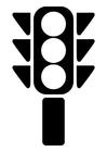 Dibujo para colorear semáforo