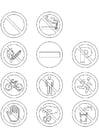 Dibujo para colorear Señales de prohibición