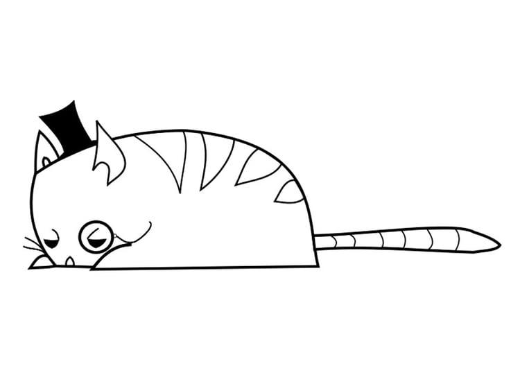 Dibujo Para Colorear Señor Gato Img 27654