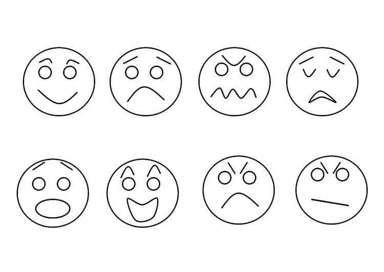 Dibujo para colorear sentimientos - Img 29346