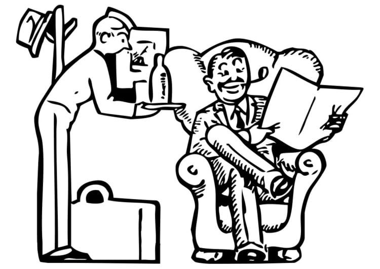 Dibujo Para Colorear Servicio De Hotel Img 28401 Images