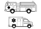 Dibujo para colorear servicios asistenciales