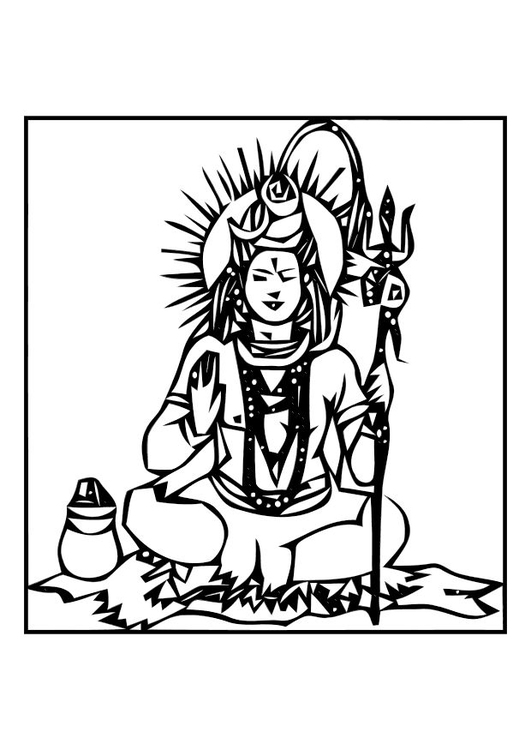 Dibujo para colorear Shiva - Img 11004
