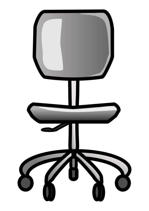 Dibujo para colorear silla de oficina img 25685 for Sillas para colorear