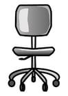 Dibujo para colorear silla de oficina