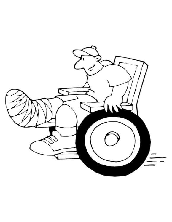 Dibujo para colorear Silla de ruedas - Img 10739