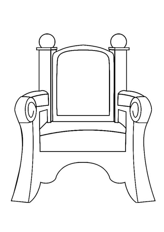 Dibujo para colorear silla de san nicol s img 29047 for Silla para dibujar