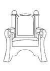 Dibujo para colorear silla de San Nicolás