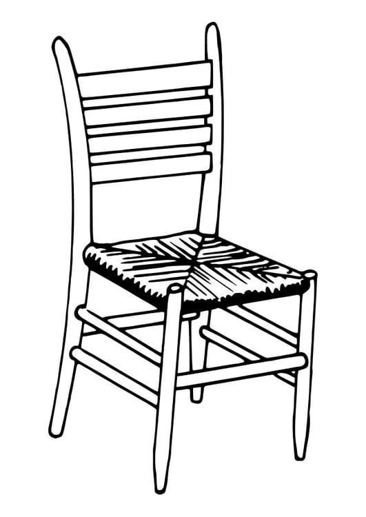 Dibujo para colorear silla img 30112 for Imagenes de sillas