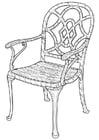 Dibujo para colorear silla