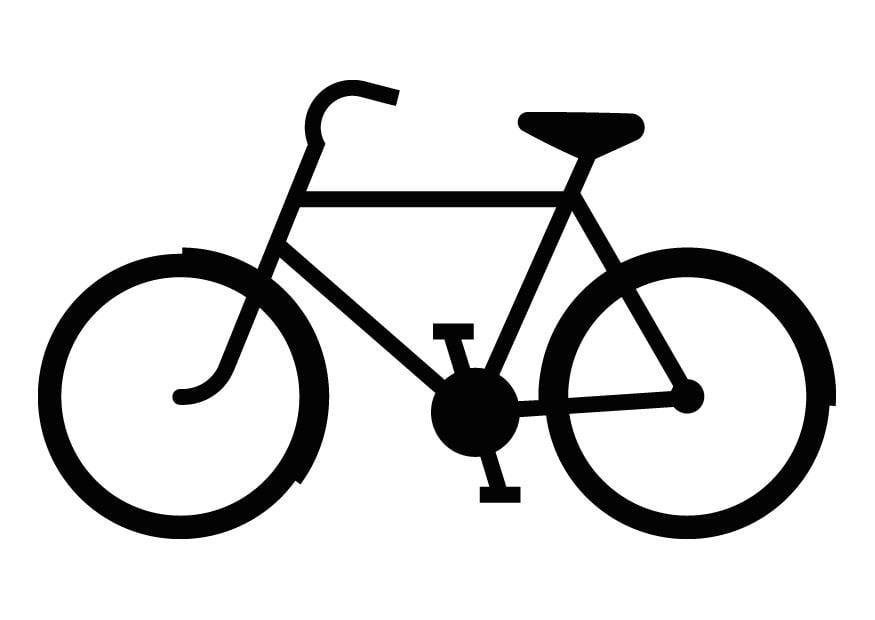 dibujo para colorear silueta de bicicleta