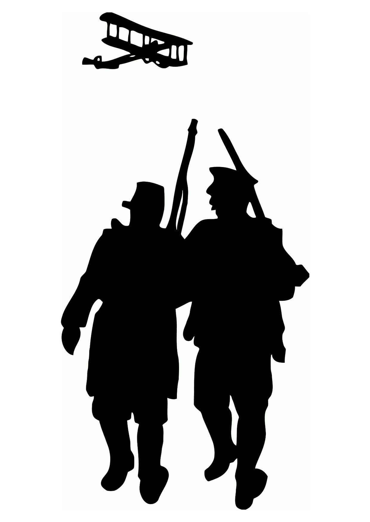 Dibujo para colorear Silueta de la primera guerra mundial