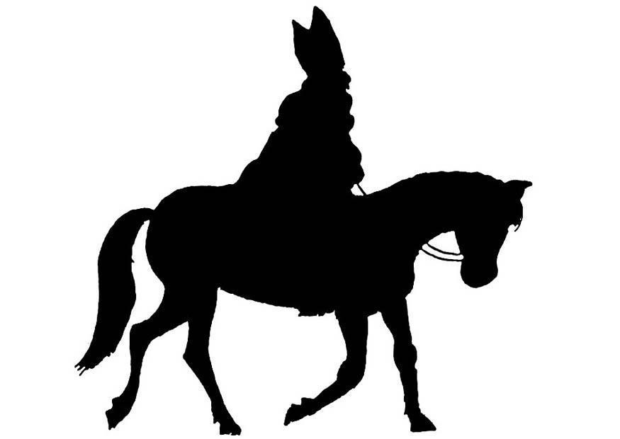 Paarden Kleurplaat Wit Dibujo Para Colorear Silueta De San Img 8845 Images
