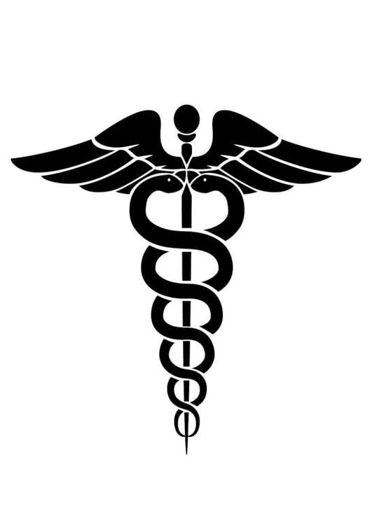 dibujo para colorear símbolo de la medicina - img 24724
