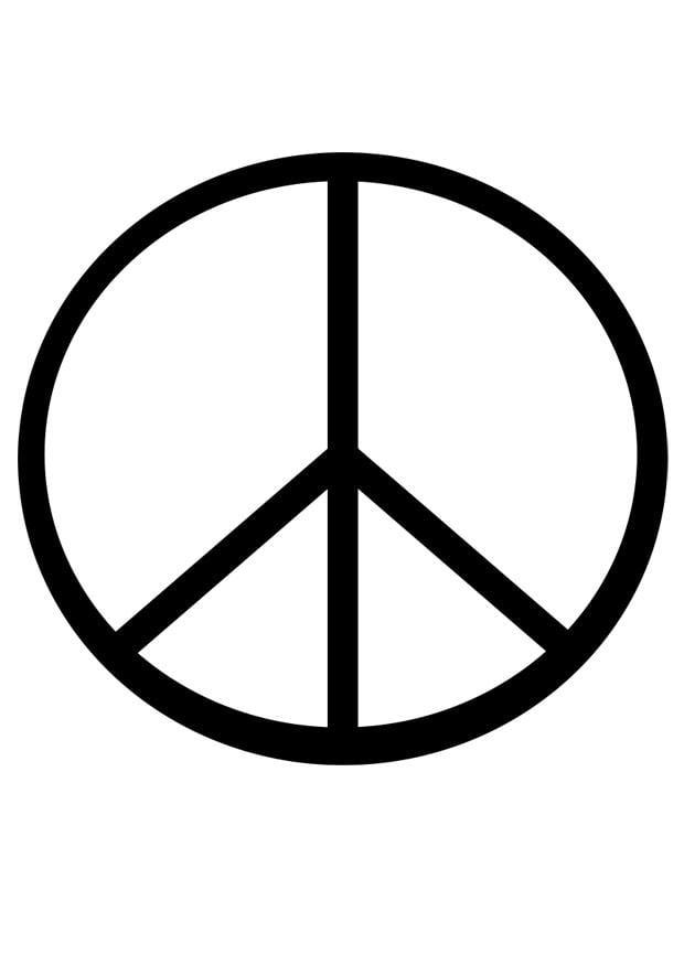 Perfecto Signo De La Paz Para Colorear Componente - Dibujos Para ...