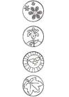 Dibujo para colorear Símbolos de las estaciones